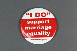 """ 'I DO' support marriage equality, www.meny.us"" button"