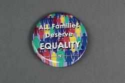 """ALL Families Deserve EQUALITY, Empire State Pride Agenda"" button"
