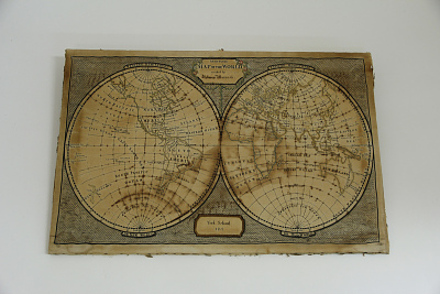 Rebecca Merrick's Geography Sampler, York School, England,1811