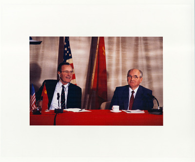 Presidents George H.W. Bush and Mikhail Gorbachev at the Malta Summit