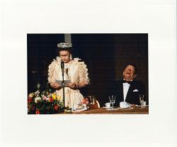 Queen Elizabeth of England makes a toast