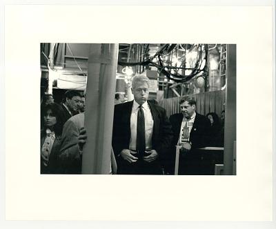 President Bill Clinton taking a deep breath