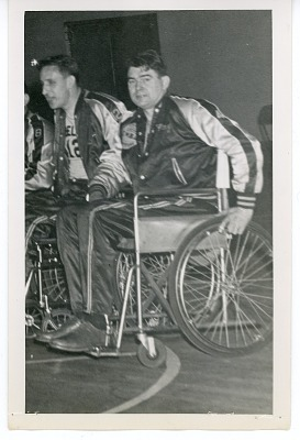 Photograph of wheelchair basketball player Ray Werner of the Jersey Wheelers