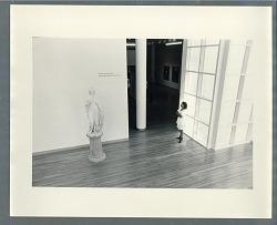 Woman in an art museum