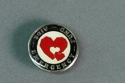 """AIDS Emergency Fund"" pin"