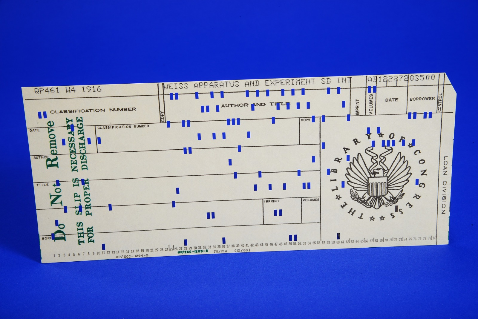 Resources :: Library of Congress Punch Card | Smithsonian Learning Lab