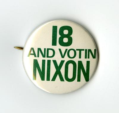 Nixon Campaign Button, 1972