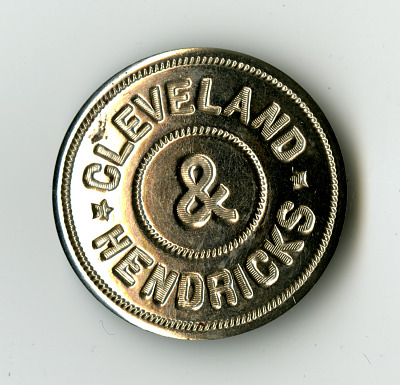 Cleveland/Hendricks Campaign Button