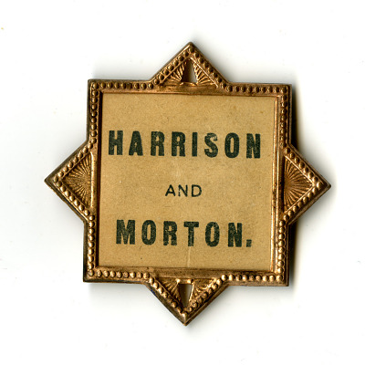 Harrison/Morton Campaign Pin