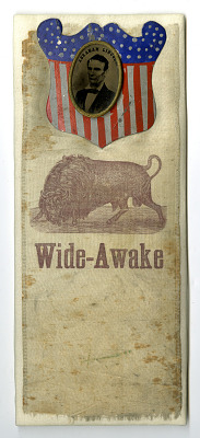 Wide Awake Campaign Ribbon, 1860