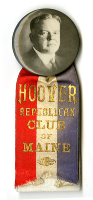 Hoover Campaign Badge, 1928
