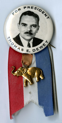 Dewey Campaign Badge, 1948