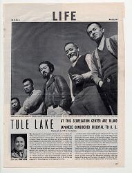 "Magazine, ""Life,"" article on Tule Lake Segregation Center, 1940s"