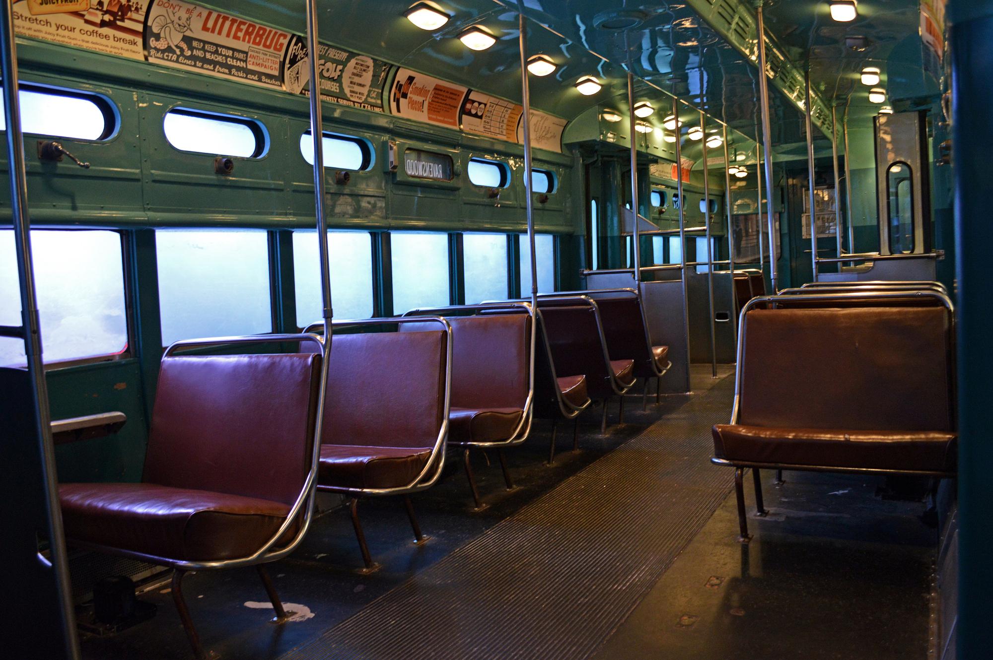 Interior of CTA Car 6719