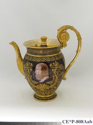 Sèvres porcelain teapot (part of a service)