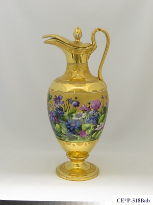 Vienna porcelain pitcher and cover (part of a service)
