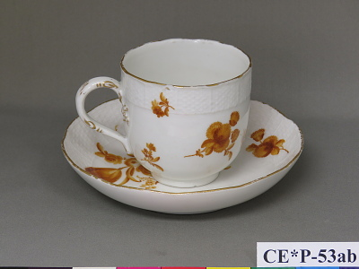 Meissen porcelain cup and saucer