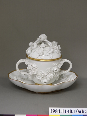 Meissen covered cup and stand