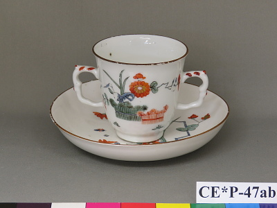 Meissen porcelain chocolate cup and saucer