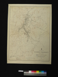 OUTLINE MAP / OF / WASHOE DISTRICT, / NEVADA. / SHOWING COMSTOCK LODE / Locations of Mineral Claims, Shafts, / Mills, Mining Towns, Etc. / 1879