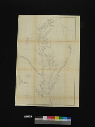 U. S. COAST SURVEY / A. D. BACHE Superintendent / Sketch C / SHOWING THE PROGRESS OF THE SURVEY / IN / SECTION No. III / From 1843 to 1855