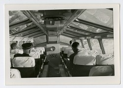 interior of observation car of train