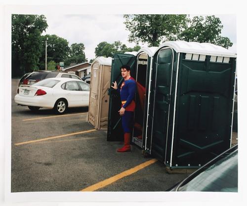 images for Superman Exiting a Port-o-Pot