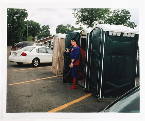 images for Superman Exiting a Port-o-Pot