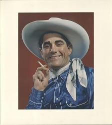 Cowboy smoking cigarette