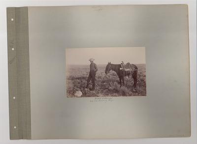 Rudolf Eickemeyer and his cowpony Major