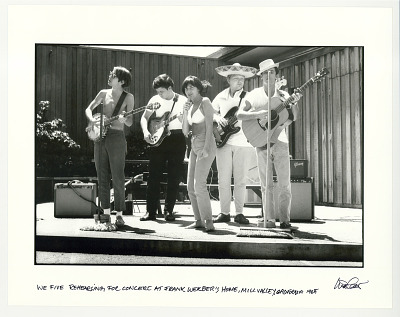 We Five rehearsing for concert at Frank Werber's home, Mill Valley, CA 1965