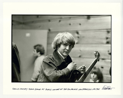 David Crosby back stage at Byrds concert at the Cow Palace, San Francisco, 1965