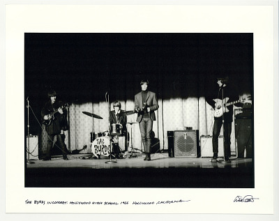 The Byrds in concert, Hollywood High School, 1966, Hollywood, CA.