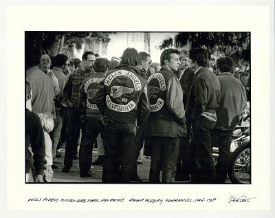 Hells Angels at Golden Gate Park, Pan handle Haight Ashbury, San Francisco, CA, 1967