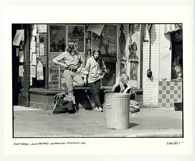 Haight-Ashbury, life on the street. San Francisco, CA, 1967.