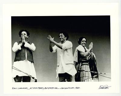 Ravi Shankar at Monterey Pop Festival. Monterey, CA, 1967.
