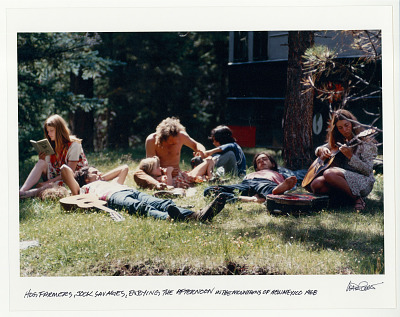 Hog Farmers and Jook Savages, enjoying the afternoon in the mountains of New Mexico. 1968