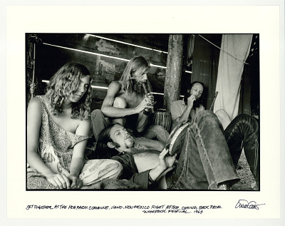 Get together at Hog Farm Commune, Llano, New Mexico, right after coming back from Woodstock Festival. 1969