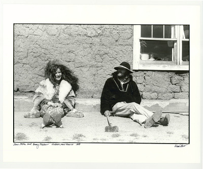 Janis Joplin and Tommy Masters. Truchas, NM. 1969