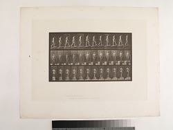 """""""Animal Locomotion. Plate 74.""""; Male, Ascending incline, angle 1 in 4"""
