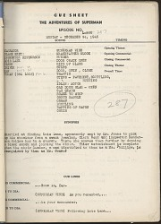 """The Adventures of Superman"" Radio Script"