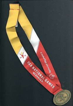 Special Olympics medal won by Ricardo Thornton