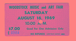 Woodstock Music and Art Fair ticket
