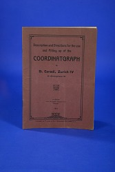 Pamphlet, Description and Directions for the Use and Fitting Up of the Coordinatgraph