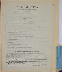 Psychological Test, A Social Study