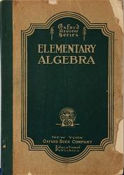 Book, Elementary Algebra