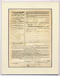Merchants Despatch Company Bill of Lading, 1868