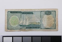 5 Dollars, Cayman Islands, 1971