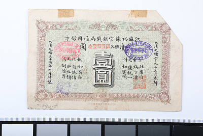 1 Dollar, The Yue Soo Imperial Bank, China, 1908
