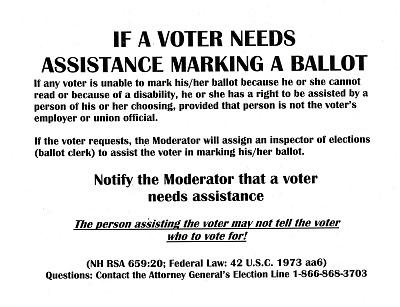If a Voter Needs Assistance Marking a Ballot